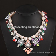 2015 perle fleur Fashion India Collier de mariage nuptiale