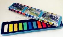 acrylic color paint set kids painting set watercolor powder in metal box