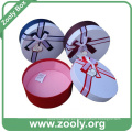 Caja redonda de sombrero de papel de cartón redondo con la tapa (ZH001)