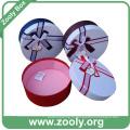 Декоративная круглая картонная коробка для бумаги с крышкой (ZH001)
