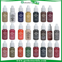 2015 getbetterlife hot selling 23 colorS 1/2OZ permanent makeup ink pigment, eyebrow pigment, eyebrow tattoo pigment, On sale