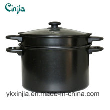 Kitchenware Carbon Steel Non-Stick Pasta Pot& Sauce Pot with Lid