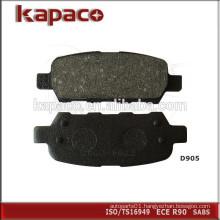 Car Disc Brake Pad Manufacturers for Hyundai Infiniti Nissan Renault D905 44060-8H385