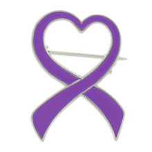 Domestic Violence Awareness Ribbon Brooch Pin