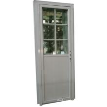 glass+upvc profile casement door for bathroom or factory