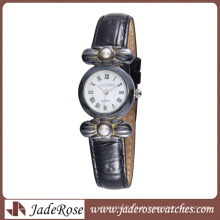 Relógio de Liga Vintage Watch Style com Learther Band
