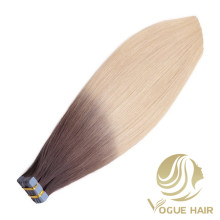 Remy cuticle human tape in hair extensions
