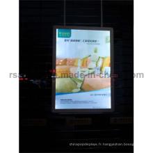 Caisson lumineux de cadre d'affiche de LED de doubles côtés