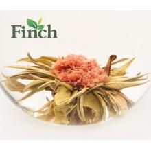 Mini boule de thé de Blooming comprimé thé chinois de fleur de Fujian aromatisé fait de thé vert et d'oeillet (Chai Zi Yan Hong)