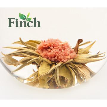 Mini bola de té floreciente comprimida Té floreciente con sabor a Fujian china hecha de té verde y clavel (Chai Zi Yan Hong)