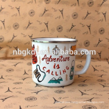 enamel white mugs Chinese style & new product mugs and cups
