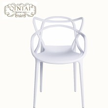 Wholesale cheap good quality hot selling stackable creative design white hollow chair plastic Cat ears chair