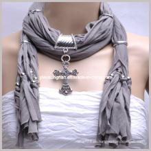 2014 bufanda pendiente única joyería bufanda de joyería mejor promoción bufandas