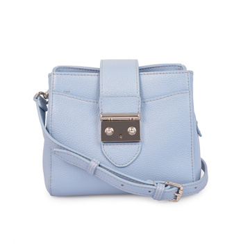 Vegan Leather Lady Crossbody Bag Camera Bag Blue