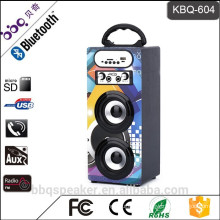 KBQ-604 1200mAh battery portable DJ Bluetooth karaoke player speaker audio active with FM radio