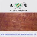 Plancher d'ingénierie de Multi-Layer antique gravé foncé antique de grain en bois réel