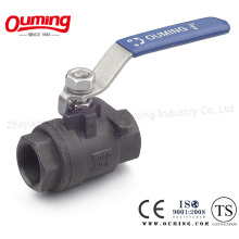 2PC Carbon Steel Floating Ball Valve
