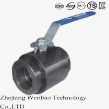 Válvula de bola de forja del hilo femenino de alta presión del acero de carbono 2PC