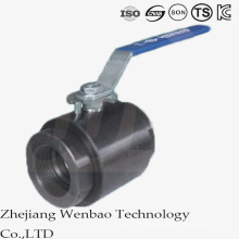 2PC Carbon Steel High Pressure Female Thread Forging Ball Valve