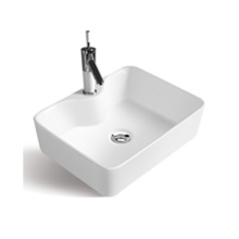 Good quality supplier rectangular hotel bathroom hand single hole art wash basin
