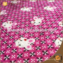 Patrón de tela de flanela de algodón impresa reactiva personalizada
