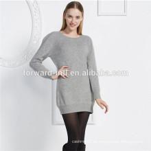 jersey puro del jersey de la cachemira del punto llano de la venta caliente para las mujeres