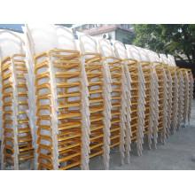 Высококачественная золотая металлическая рамка для банкетного стула