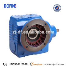 SF97 helical worm gearmotor solid shaft gearbox Flange mounted reducer