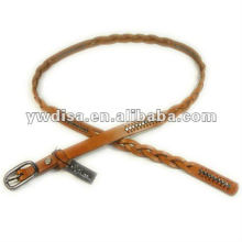 Narrow Braided Leather Belt Studs Leather Belt