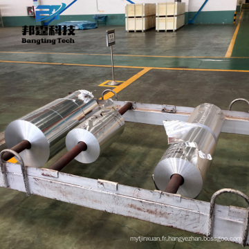 Feuilles d'aluminium de prix de haute qualité rouleau jumbo 16 microns
