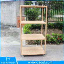Newest Design Outdoor rattan Towel rack with wheels