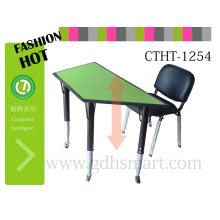 Stehtisch emporhebender Tisch stabiler erschwinglicher lamellierter oberer weißer siliver Rahmen