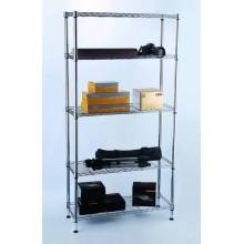 DIY Chrome Metal Book Display Rack for Home/Office (LD9035180A5C)