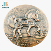 High Quality 3D Horse Custom Bronze Coin for Souvenir Gift