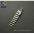 Fábrica de 4 pinos 3mm rgb led diodo comum cátodo