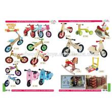 Bicicleta de madeira brinquedos infantis madeira equilíbrio bicicleta bicicleta de madeira barata