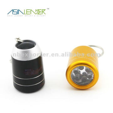 Hot selling 6 LED mini led flashlight keychain