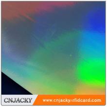 Venta caliente diseño personalizado películas de laminación de holograma de PVC en stock