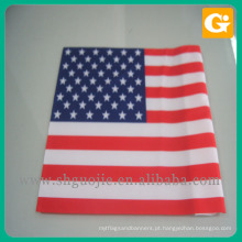 Bandeira americana do mini projeto feito sob encomenda nacional iluminado