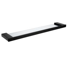 Matte Black Single Layer Glass Shelf