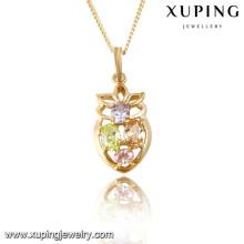 31765 Xuping nuevo diseño de colgante de piedra natural chapado en oro