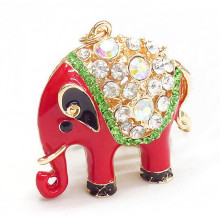 Advertising gifts meatl elephant keyring keychain manufacturers in china