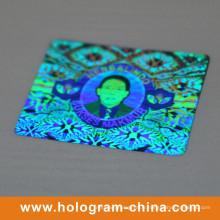 Autocollants personnalisés d'hologramme de matrice d'arc-en-ciel DOT