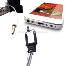 2015 New handheld wired extendable cable take pole monopod selfie stick