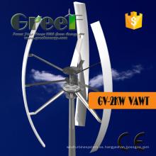 Turbina de viento Vertical del eje 2KW en disco Coreless Pmg