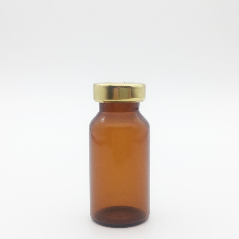 10ml Amber Sterile Serum Vials Gold