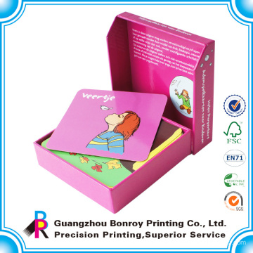 custom printed flash cards Children Paper flash card hard paper card