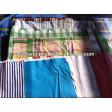 100%cotton yarn dyed fabric stock