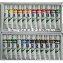 Conjunto da pintura da cor de água do tubo do alumínio de 24c -6ml