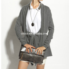 16STC8080 wool knit long open cardigan